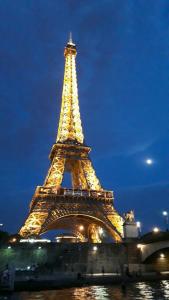 Bild vom Eiffeltour bei Nacht